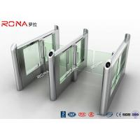 Best Smart Electronic Flap Waist Height Turnstiles RFID Security Gate For Pedestrian Control wholesale