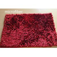 Best Microfiber Mat Red 40 * 60cm Big Chenille Bathroom Indoor Anti - skid Rubber wholesale
