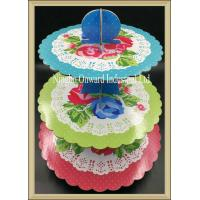 Best Party tableware 3 tier printed  paper cupcake stand  baby shower party cake stand wholesale