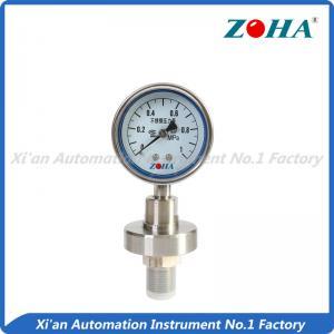 Best Diaphragm Seal Stainless Steel Pressure Gauge For Chemical Industry wholesale