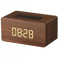 Best Wooden Wireless Alarm Clock Bluetooth Speaker with mp3 display bookshelf speaker wholesale