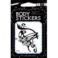 Best ODM non permanent Butterfly Design childrens black temporary tattoo Body Art wholesale