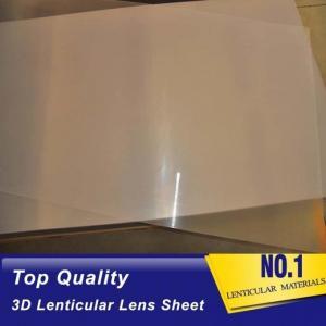Best High quality 51X71CM 0.25MM PET Lenticular Lens Film sheet lenticular lenses  for 3d lenticular printing service Baharin wholesale