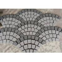 Best Fan Shape Decorative Landscaping Stone Granite Paving Stones With Net On The Back wholesale