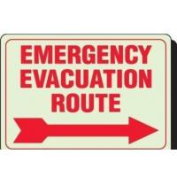 Best Emergency Evacuation Outdoor Lighted Business Signs Rectangle Shape wholesale