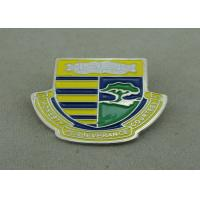 Best School Die Stamped Soft Enamel Pin With Brooch , Iron Badge Pin wholesale