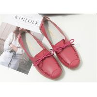 Best Red Pink Comfortable Trendy Shoes Ladies Leather Flats For Any Occasions wholesale