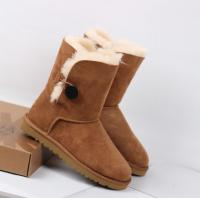 Best hot sales Leather snow boot,2014 UGG short BOOT,UGG Button Suede Ankle Boots for women wholesale