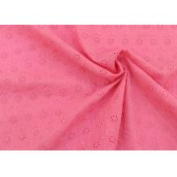Best OEM Embroidery Eyelet Cotton Dying Lace Fabric With Floral Circle Pattern For Top wholesale