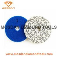 Best 4 inch 3 Step Wet Granite and Marble Polishing Pads wholesale