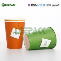China 12oz 16oz 22oz Disposable Cold Paper Cups , Custom Disposable Drinking Cups Eco Friendly on sale