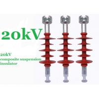 China Red 20kV Polymer Suspension Insulators Minimum Creepage Distance 750mm on sale