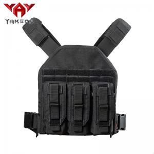 Best Black 1000D nylon Adjustable Tactical Gear Vest For Combat Training wholesale