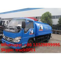 cheapest price forland RHD 5000L stainless steel milk tank truck for sale, factory sale forland liquid food tank truck