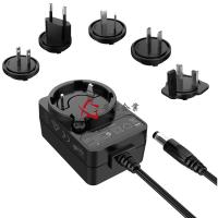 Best 4 Plugs Interchangeable Power Adapter , 24V 0.5A Transformer Plug Adapter Level VI wholesale