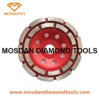 Buy cheap Double Rows Diamond Segment Cup Wheel Disc with Thread from wholesalers