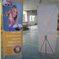 Cheap Adjustable X Stand Banners With Grommets Single / Double Sides for sale