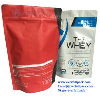 Best Custom Printed Zipper Stand Up Food Grade Nutritional Supplement Packaging Whey Protein Powder Doypack Stand Up Bag wholesale