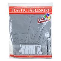 Best Plain Style Disposable Plastic Table Skirts , Trade Show Table Skirt wholesale