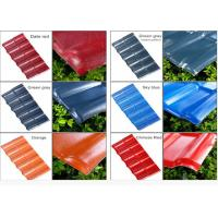 Best Color coated corrugated asa pvc synthetic resin spanish style roof tile wholesale