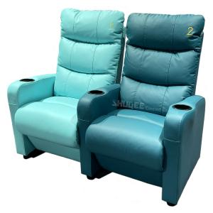Best 3D Colorful Movie Theater Seating VIP Leather Cinema Sofa With Cup Holder wholesale