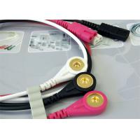 Cheap 1M Length Patient Monitor Accessories , Monitor Connector Cable Solid Conductor for sale