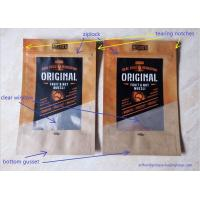 Quality Laminated Brown Craft Paper Bags With Transparent Window In Front For Snack Food wholesale