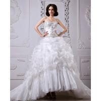 Best Thick Heart Shaped Strapless Wedding Gowns winter ladies puffy wedding dresses wholesale