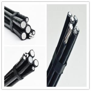 Cheap Electrical Service Drop Conductors Duplex Cable , Fire Resistant Aerial Drop Cable for sale