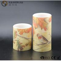 Best Eco Friendly Birds Paradise Water Sticker Flameless Led Candles With Flat Edge wholesale