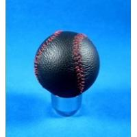 Best Novelty Red Line + Black Real Leather Front Racing Gear Knob Ball Shape wholesale