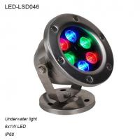 Cheap 9W Round DC12V Stainless steel +toughened Glass IP68 LED Underwater light for sale