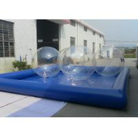 Best Easy Setting Up Square Swimming Pools , Inflatable Family Pool With Strong Thread wholesale