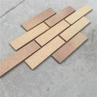 Best Exterior Wall Decoration Clay Split Face Brick HM36413-7 With Rough Face wholesale