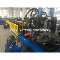 Fully Automatic CZ Purlin Roll Forming Machine With Leveling And Hydraulic Punching