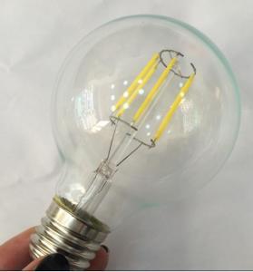 Best G80 LED Filament Edison Glass Bulbs light Dimmable E14/E26/E27/B22,4W/6W/8W,110v/220v wholesale