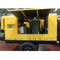 Best 185 CFM Mobile Diesel Air Compressor , Tow Behind Air Compressor For Mining wholesale