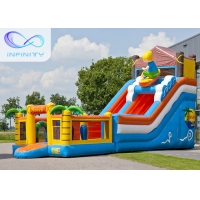 Best 6.5m Beach Water Jumping 4 In 1 Inflatable Water Slides wholesale