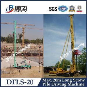 Best 20m Depth DFLS-20 Pile Foundation Machinery Hydraulic Pile Driver for Sale wholesale