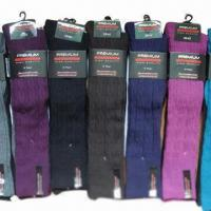 Best Women's Knee-high Rib Woolen Socks, Comfortable wholesale