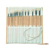 Best Natural Color Bamboo Brush Holder Useful Tools , Artist Brush Roll Case 41.5 * 56cm wholesale
