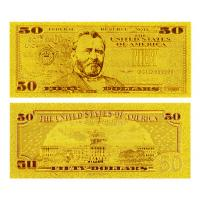 Buy cheap 24 Kt 0.999 Gold Dollar Bill $50 from wholesalers