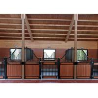 China Stable European Horse Stalls Solid Welded 12 Gauge Steel Tubular Frame Construction on sale