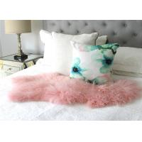 Best Natural Pink Real Mongolian Lamb Rug Bed Fur Blanket Decorative Blankets Floor Rugs and Carpets For Living Room wholesale