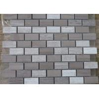 Best Athen Grey + Snow White Marble Mosaic Tile Sheets 7-12mm Thickness Anticorrosive wholesale