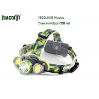 China Waterproof Rechargeable Led Headlamp , 1500lm CREE Rechargeable Headlamp on sale