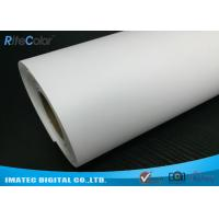 Best Giclee Eco Solvent Media , 260gsm Silky Polyester Glossy Inkjet Canvas Rolls wholesale