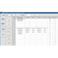 RTU5025 PC Configurate software 2 number list