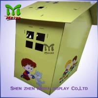 Cheap Custom Painting Corrugated Cardboard Kids Toys Eco - friendly Paperboard Playhouse for sale