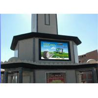 Best RGB P8mm Wall Mounted LED Advertising Screen With Iron / Aluminum Cabinet wholesale